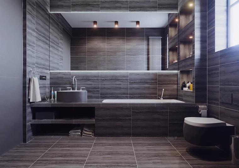 Bagno moderno 100 idee e soluzioni di design per un for Mobili piccoli bagno