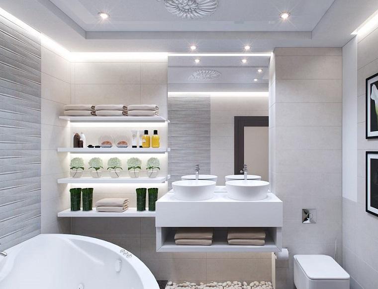 Bagno moderno 100 idee e soluzioni di design per un ambiente confortevole - Arredo bagno semeraro ...