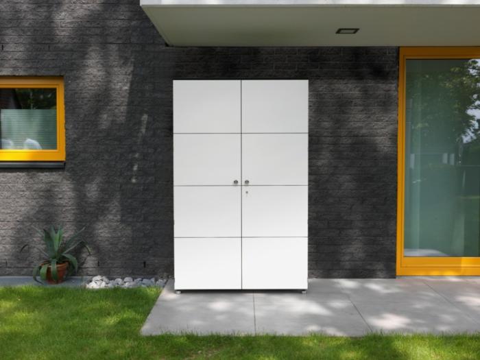 mobili da giardino proposta originale particolare armadio outdoor