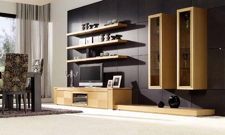 mobili moderni parete attrezzata salotto