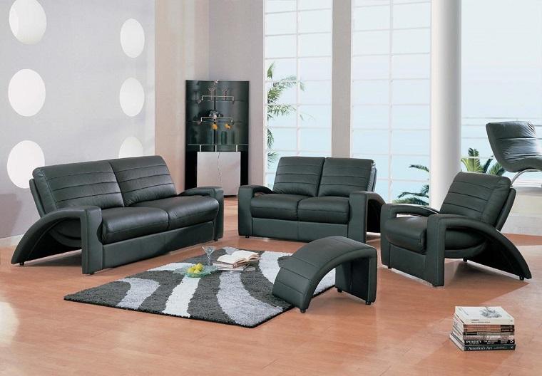 mobili moderni set divani pelle