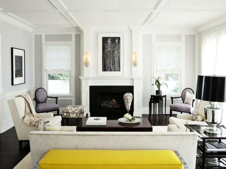 mobili salotto idea colori sobri eleganti raffinati