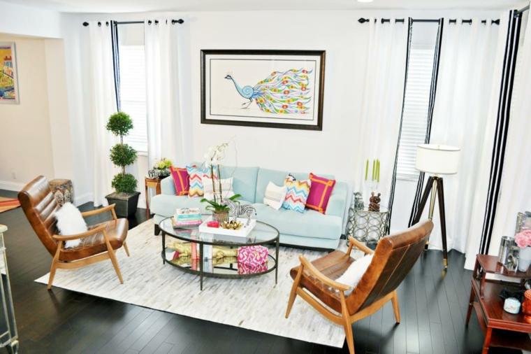 mobili salotto idea fresca colorata vivace