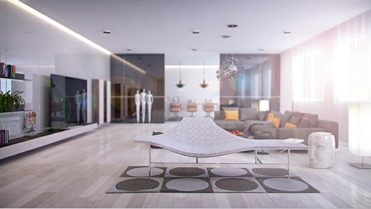 mobili salotto moderno originale fresco vivace