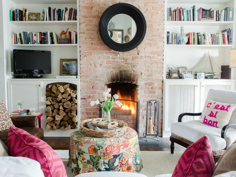 mobili salotto suggerimento fresco colorato vivace originale