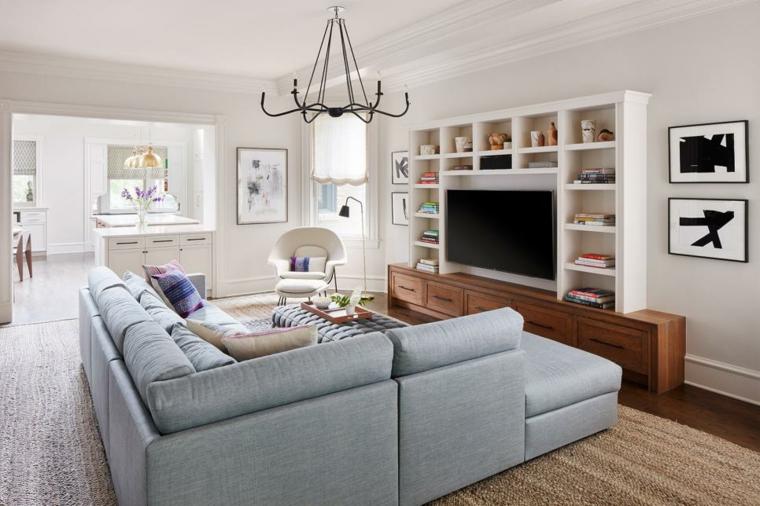 mobili salotto suggerimento fresco colorato vivace