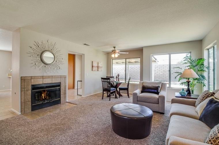 Mobili stile contemporaneo per l 39 arredo del soggiorno for Living con camino