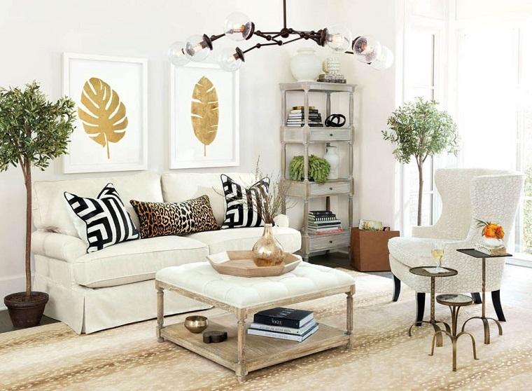 mobili stile contemporaneo soggiorno lampadario originale