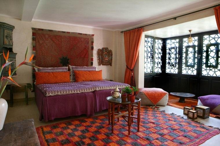 moda hippie proposta ampia camera letto