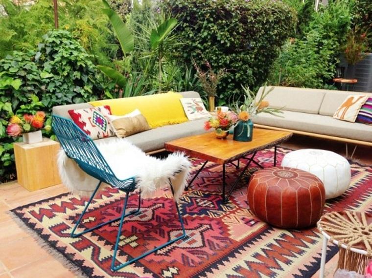 moda hippie soluzione arredare patio