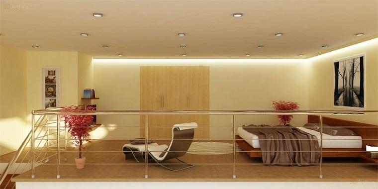 Monolocale con soppalco un tocco originale per il vostro interior design - Camera con letto a soppalco ...