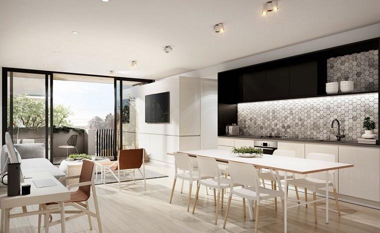 open space arredamento moderno monocromatico