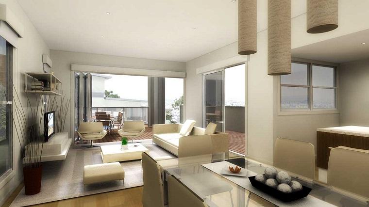 open space moderno bianco colore dominante
