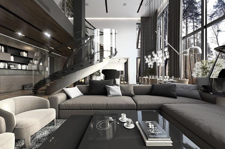 open space moderno dettagli lussuosi