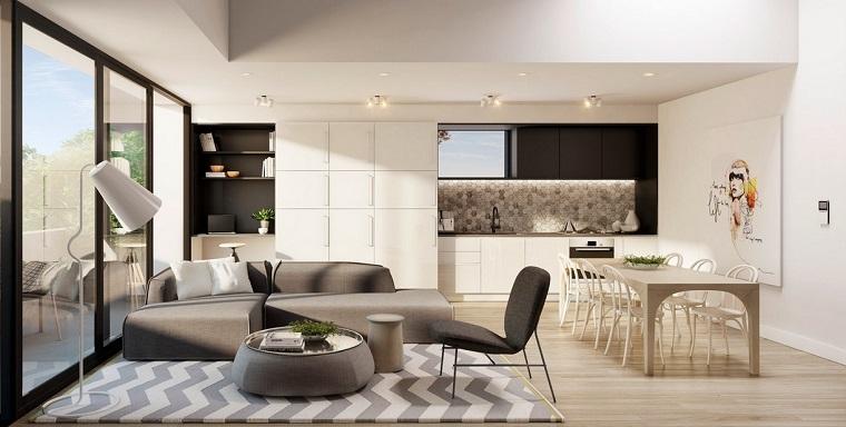 open space moderno dettaglio living zona cucina
