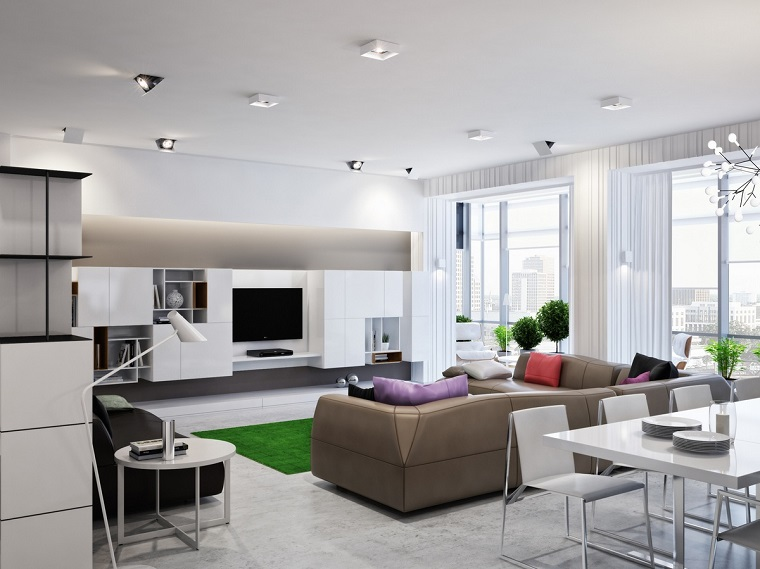 open space moderno vista living