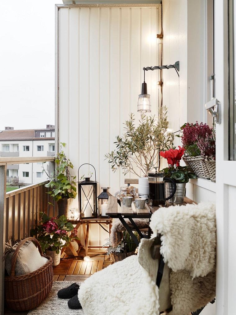 outdoor allestito accogliere inverno modo particolare lanterne