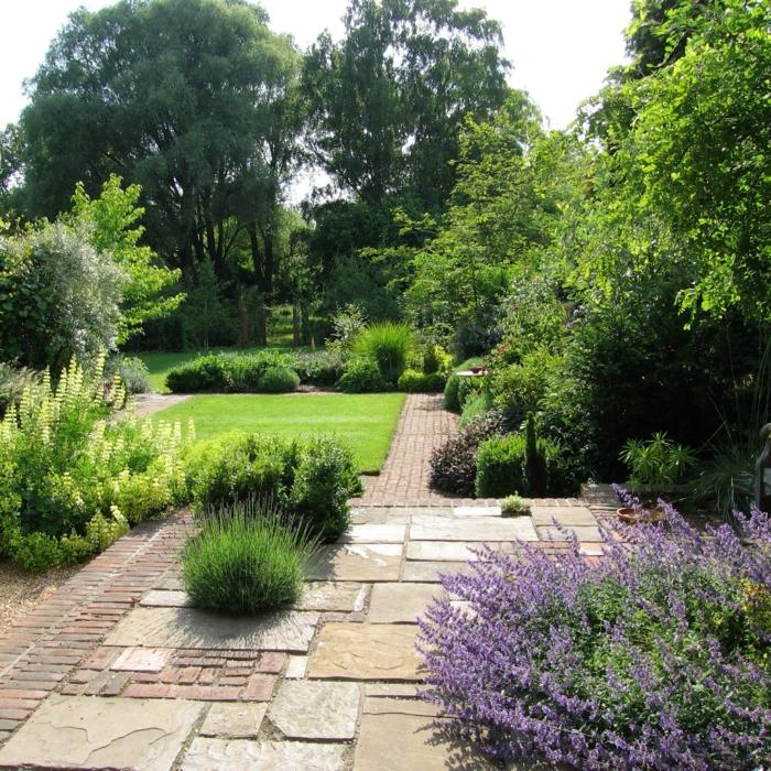 paesaggi idea verde fresca vivace giardino