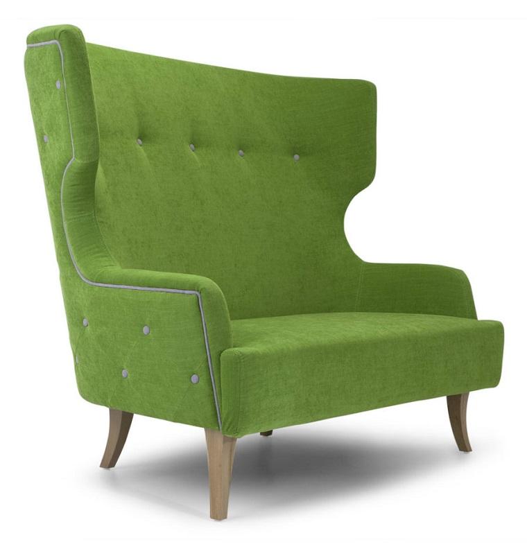 pantone verde poltrona piedini legno