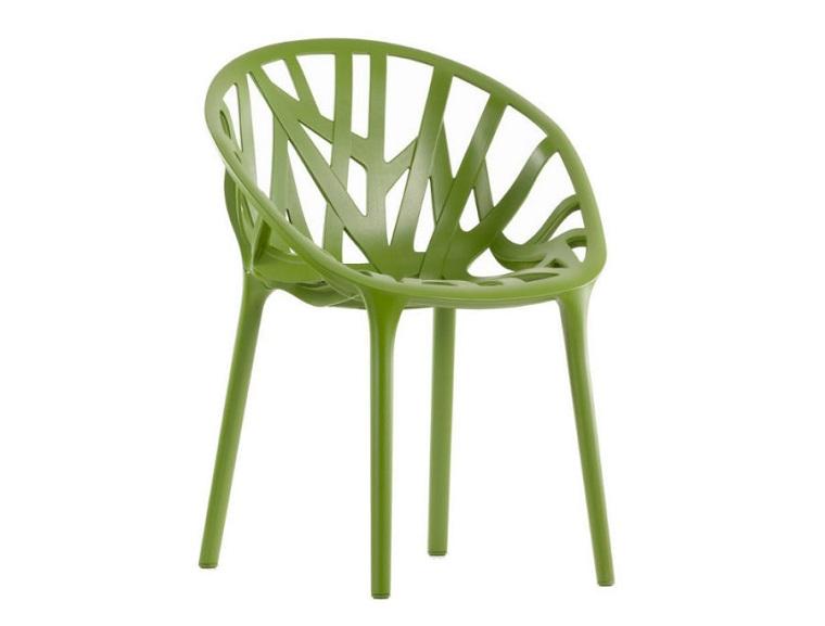 pantone verde sedia linee inusuali