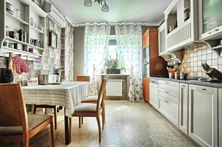 paraschizzi cucina con piastrelle open space con sala da pranzo pavimento in marmo