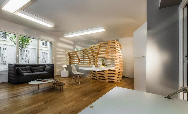 Parete divisoria in legno soluzione d 39 avanguardia per la casa - Pareti divisorie in legno per interni ...
