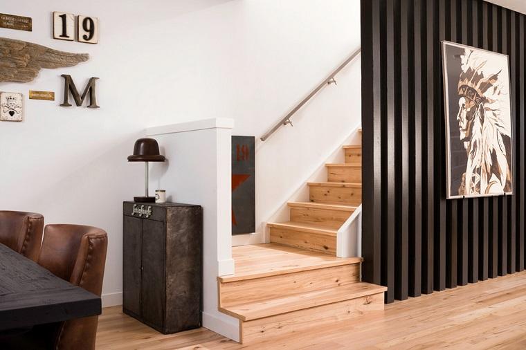 parete divisoria in legno colore nero