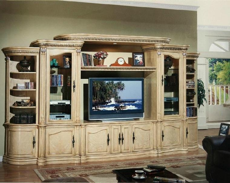 Pareti attrezzate classiche idee per un complemento d 39 arredo funzionale - Decorazioni in legno per pareti ...
