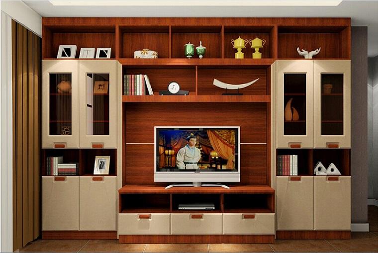 pareti attrezzate stile classico bianco marrone