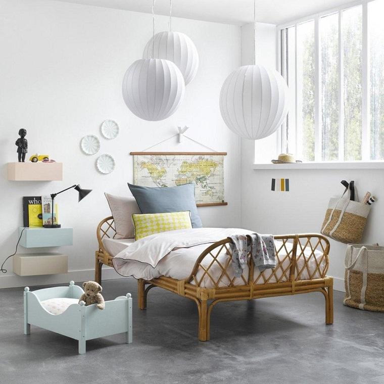 Colori pareti camerette tonalit idee e accostamenti di tendenza - Decorazioni bianche ...