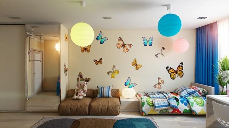 Colori pareti camerette tonalit idee e accostamenti di tendenza - Decorazioni pareti camerette ...
