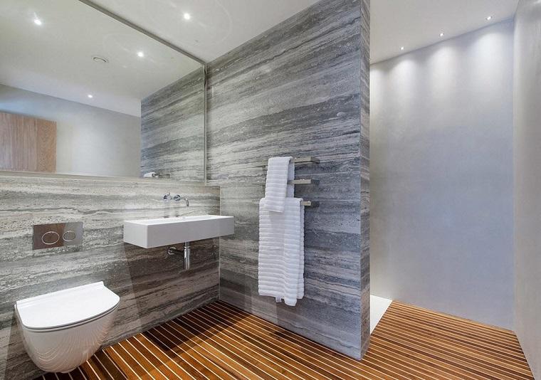 pavimento legno box doccia separato parete