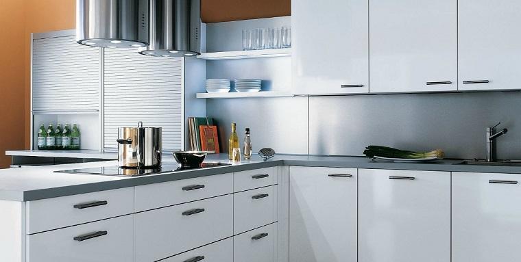penisola cucina top colore grigio elettrodomestici moderni