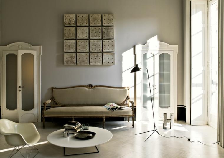 proposta elegante moderna originale soggiorno shabby chic