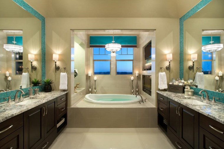 proposta particolare fresca vivace bagno design raffinato elegante