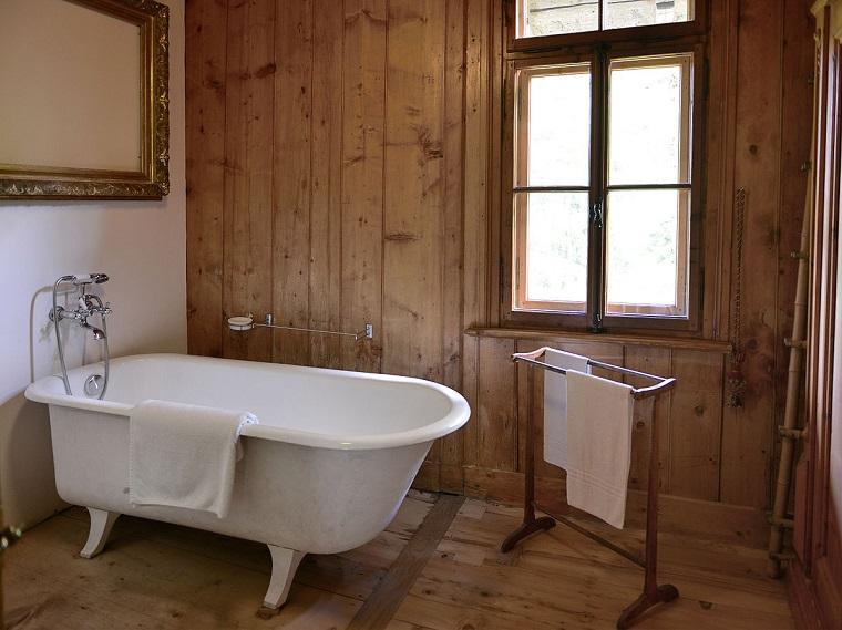 bagno rustico il sapore autentico della pietra e il legno. Black Bedroom Furniture Sets. Home Design Ideas