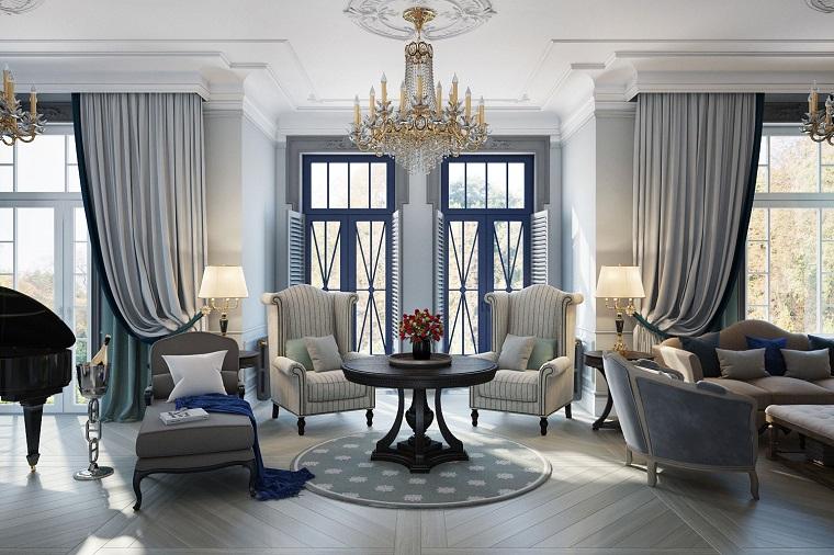 salotto arredato stile classico decorato gusto