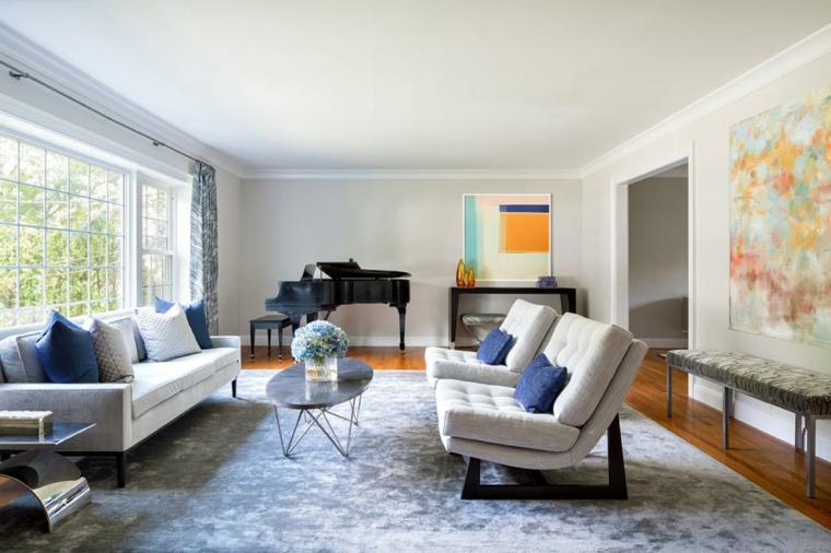 salotto fresco colorato vivace design semplice