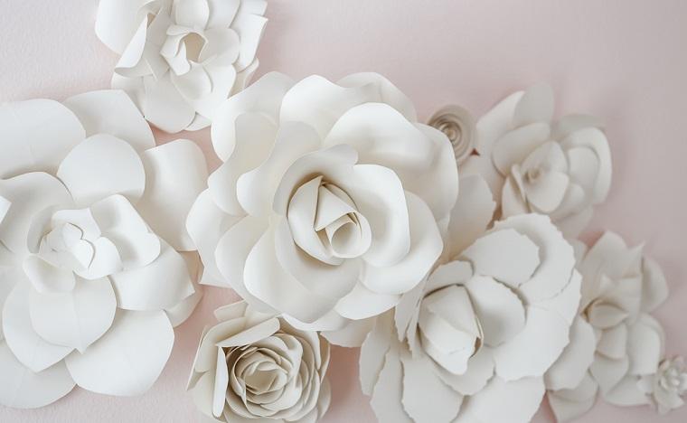 segnaposto pasquali fai da e facili fiori di carta bianca decorazioni primaverili