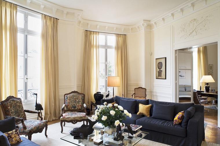 soggiorni classici divano due poltrone retro