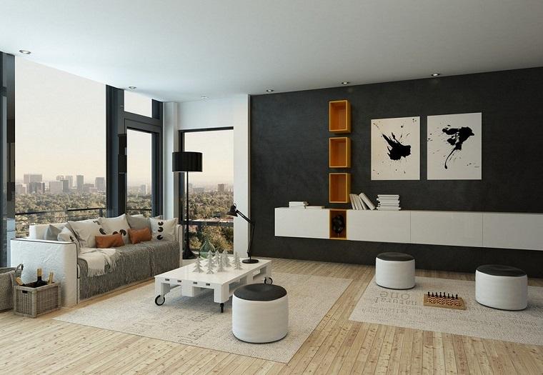 soggiorno arredato secondo stile minimal salotto