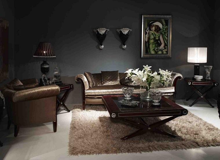 soggiorno classico arredamento inserti moderni