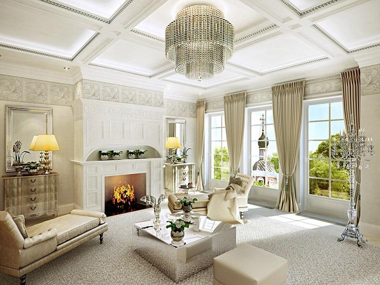 soggiorno classico elementi lussuosi