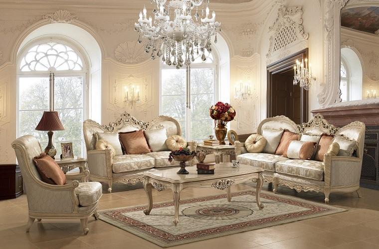 soggiorno classico tessuti preziosi