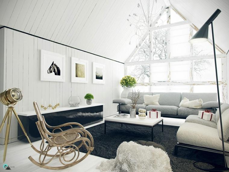 soggiorno moderno proposta raffinata elegante bianco nero