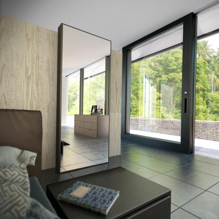 specchi moderni stanza-letto-raffinata