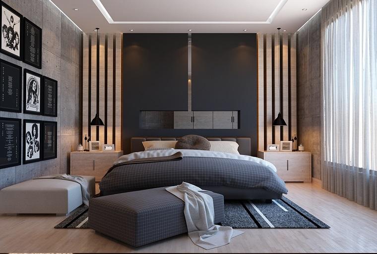 stanza da letto finestra grande lampadari