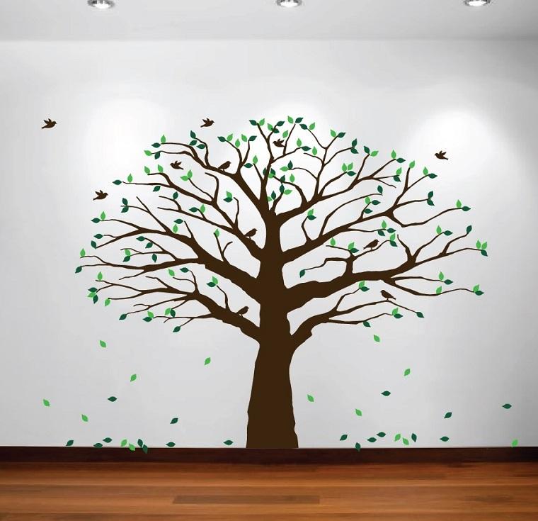 stencil parete forma grande albero