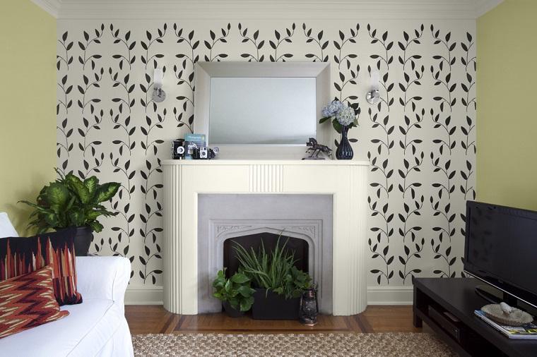 stencil-parete-idea-decorare-parete-camino