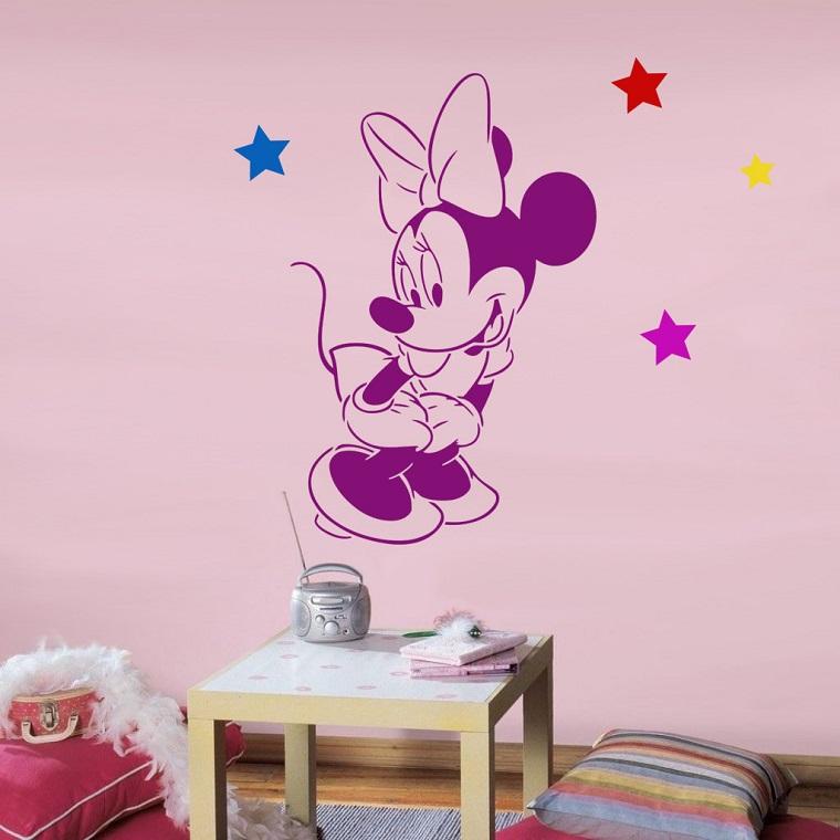 stencil parete idea personaggi cartoni animati